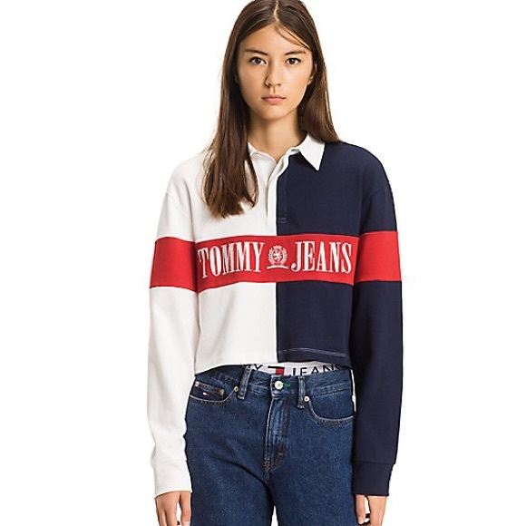 c0ee0e62 Urban Outfitters Tommy Hilfiger Cropped Rugby Top.  M_5b2171f22beb792ffdf00019